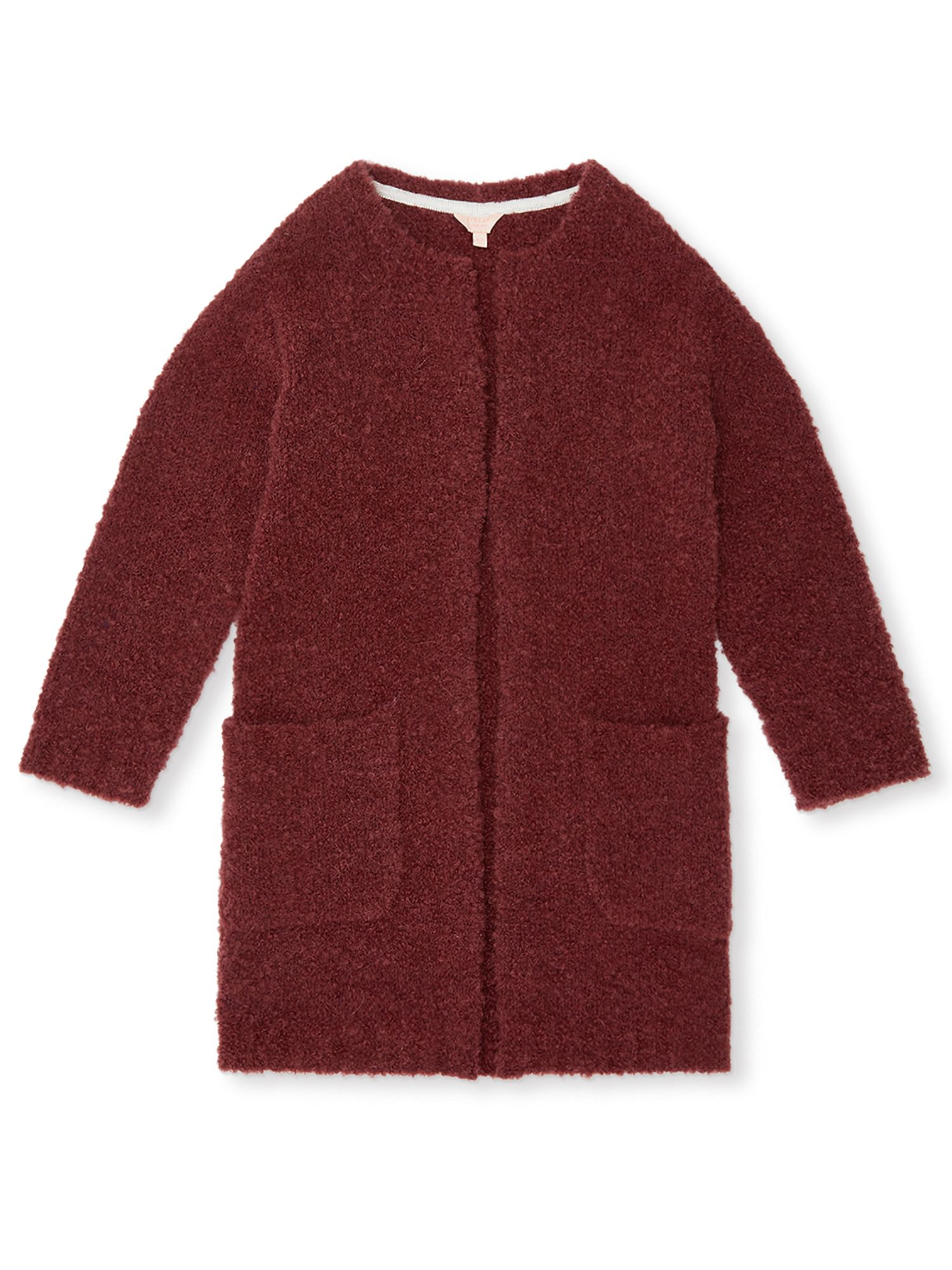 Click to view product details and reviews for Jigsaw Girls Longline Boucle Cardigan Pink.