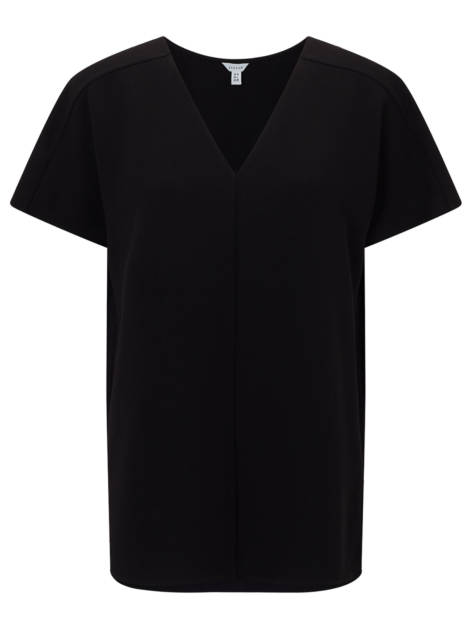 Jigsaw V Neck Cady Top, Black