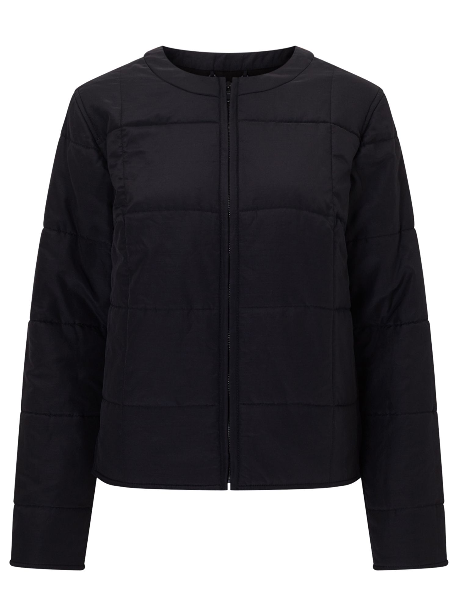 Jigsaw Quilted Jacket, Black