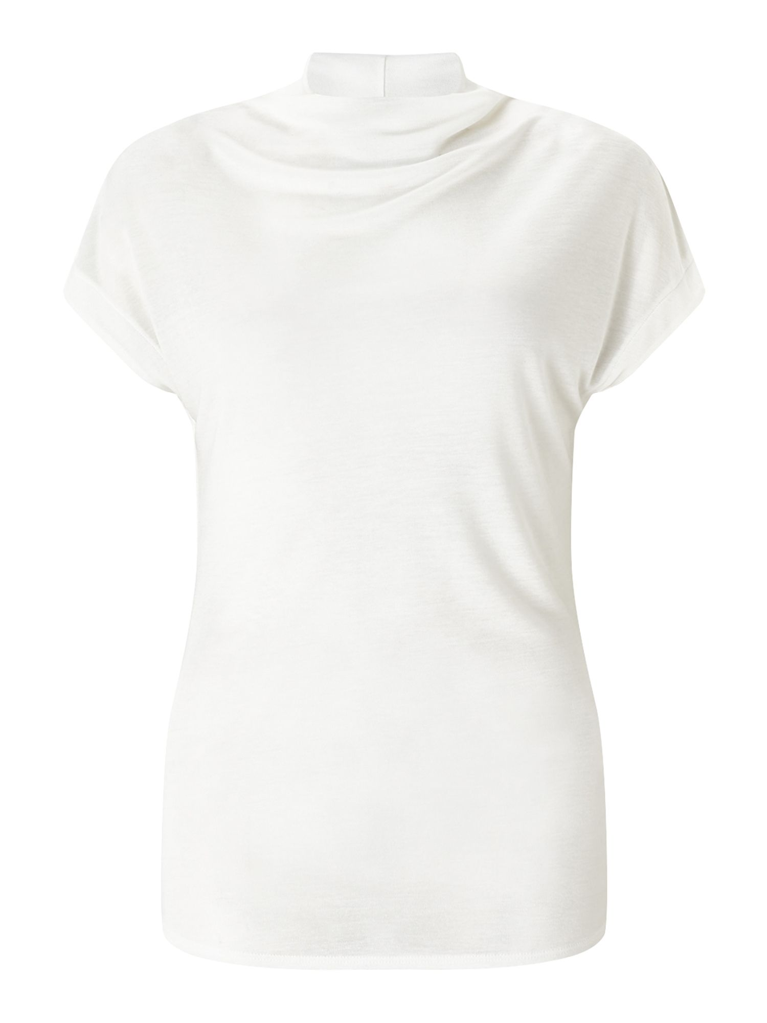 Jigsaw Turtleneck Cap Sleeve Tee, Cream