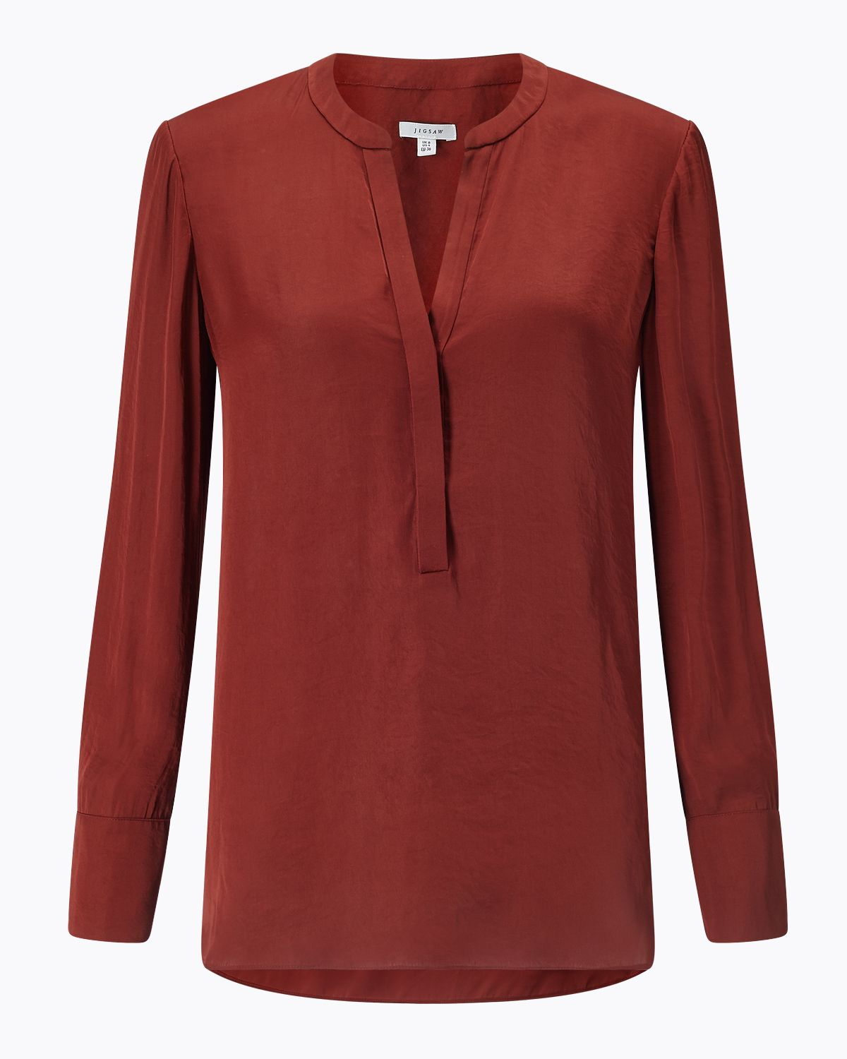 Jigsaw Crocus Drape Shirt, Red