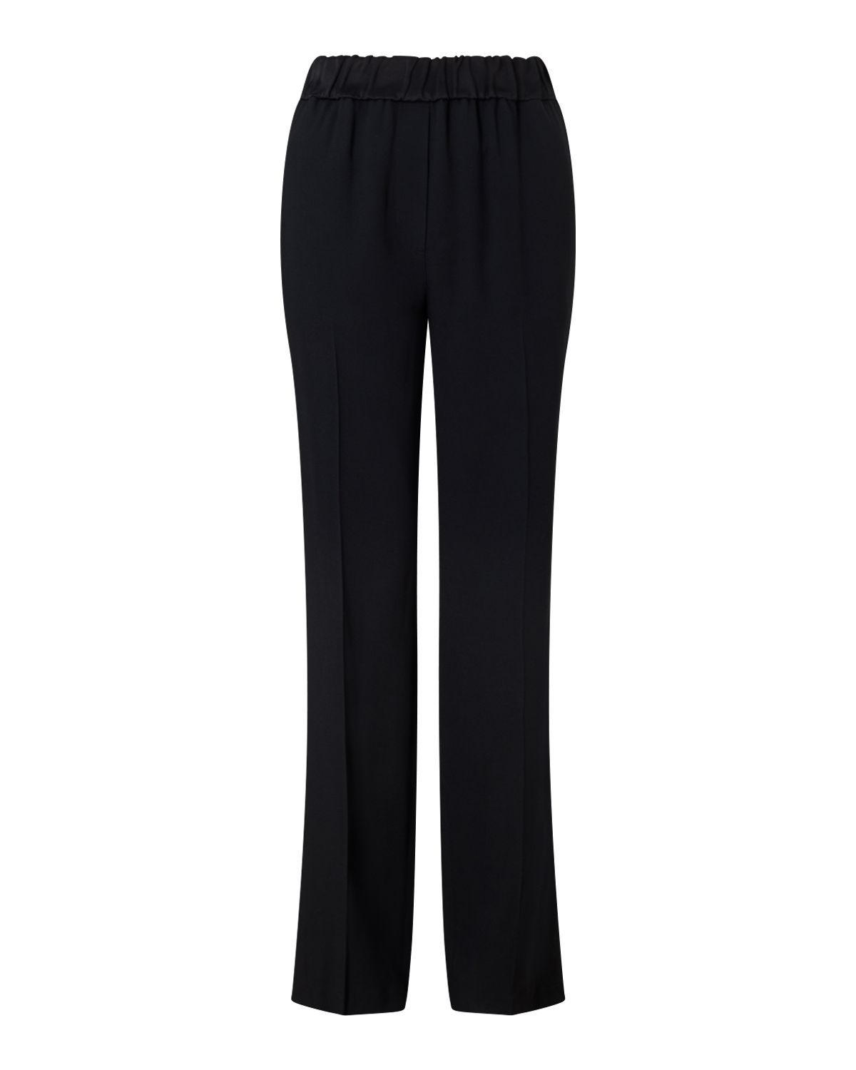 Jigsaw Crepe Relaxed Parallel Trouser, Black