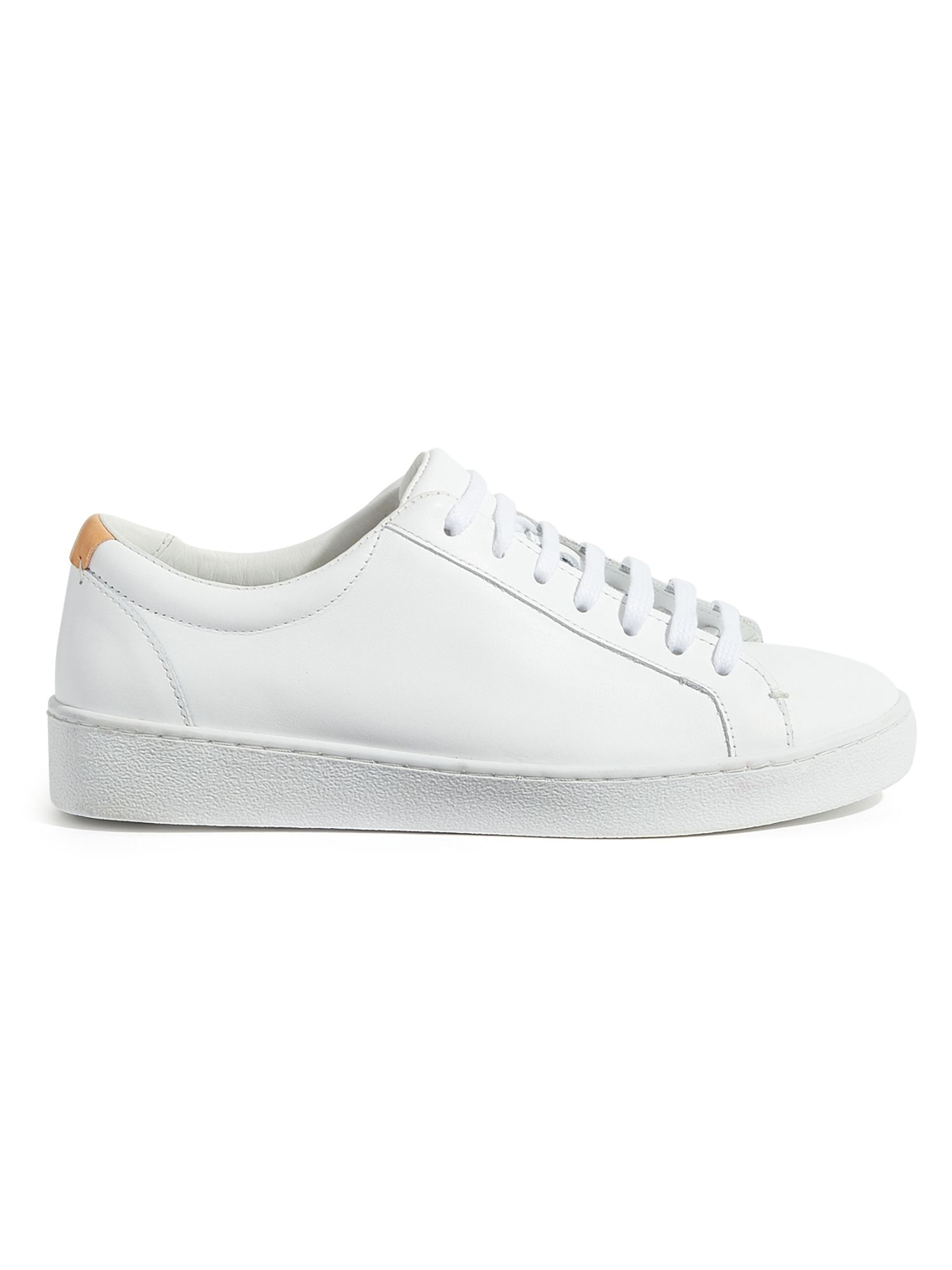 Jigsaw Amour Lace Up Trainers, White