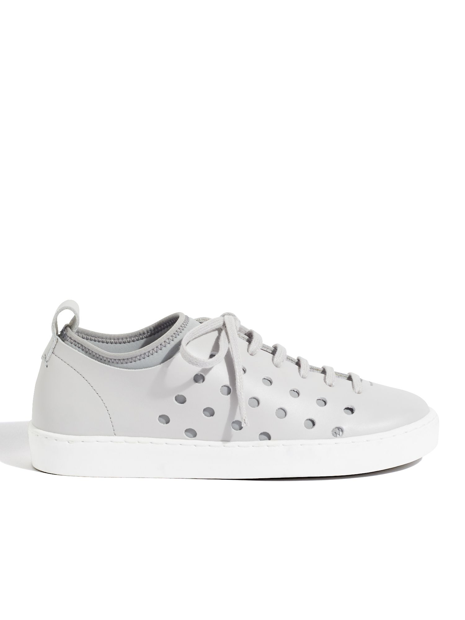 Jigsaw Antibes Perforated Trainer, Grey