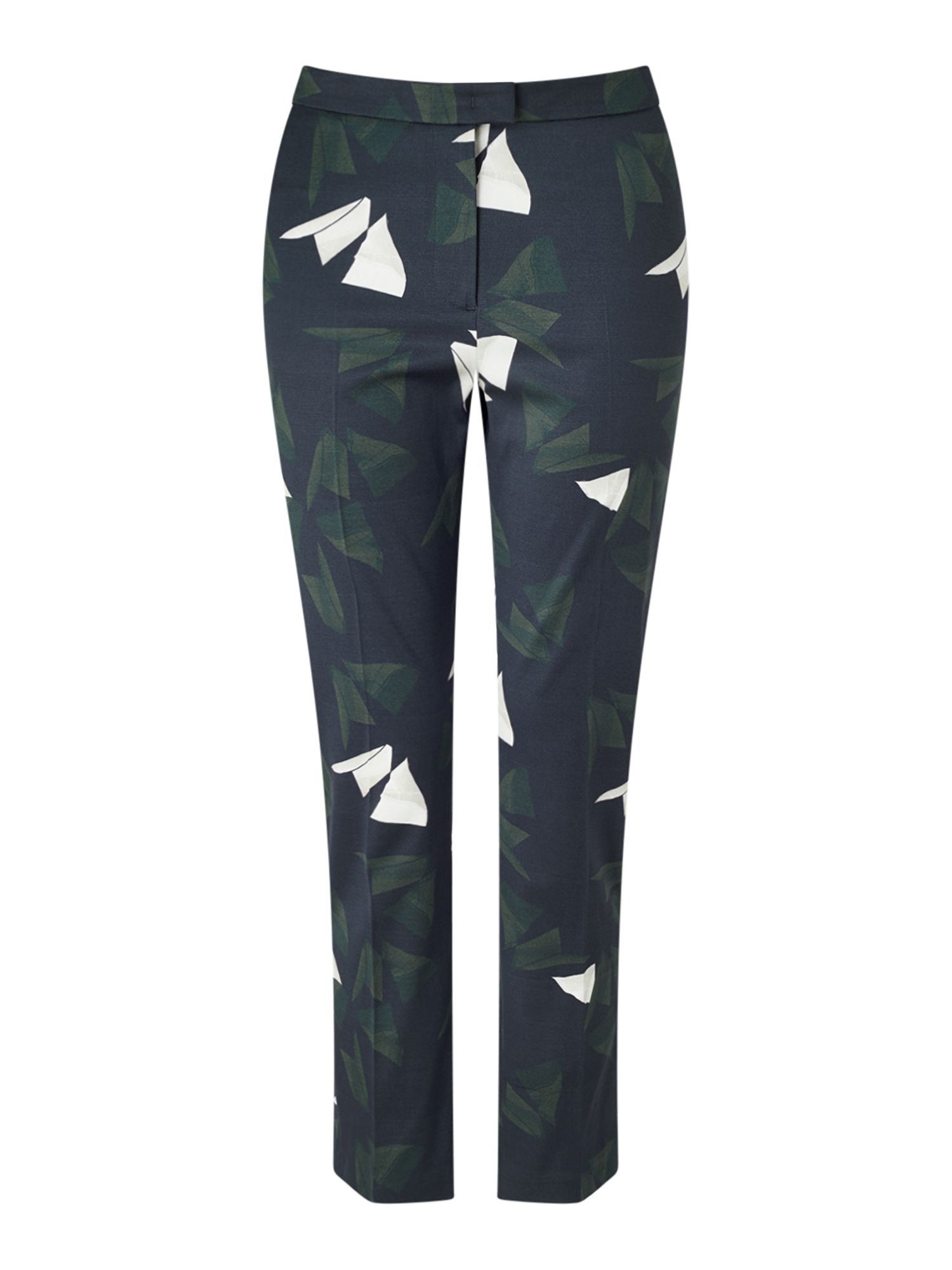 Jigsaw Abstract Strokes Trouser, Blue