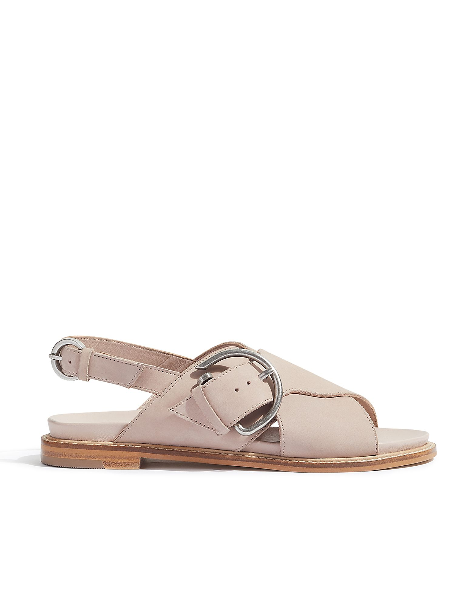 Jigsaw Beaufort Buckle Footbed Sandal, Pink