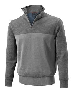 Men's Mizuno Hayate merino zip neck jumper
