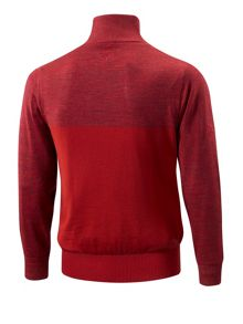 Hayate merino zip neck jumper