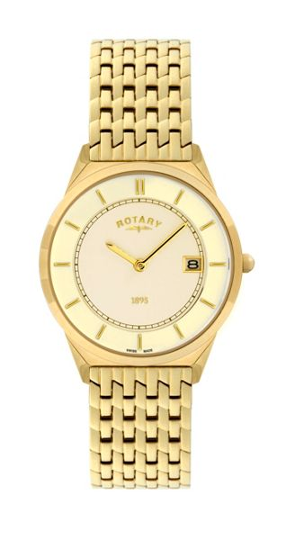 Rotary GB08002/03 Gold mens watch