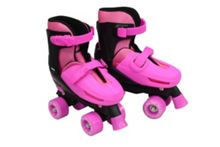 Zinc Adjustable Quad Skates - Pink Size 3-5