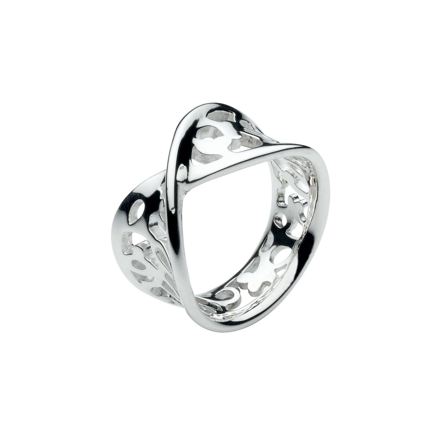 Sterling Silver Flourish Ring - Silver