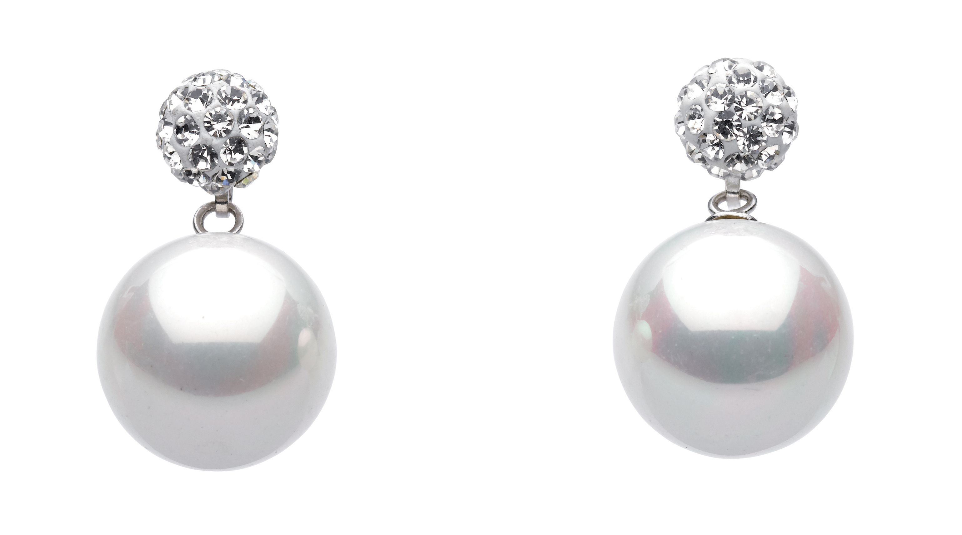 Shell Pearl and Crystal Studs