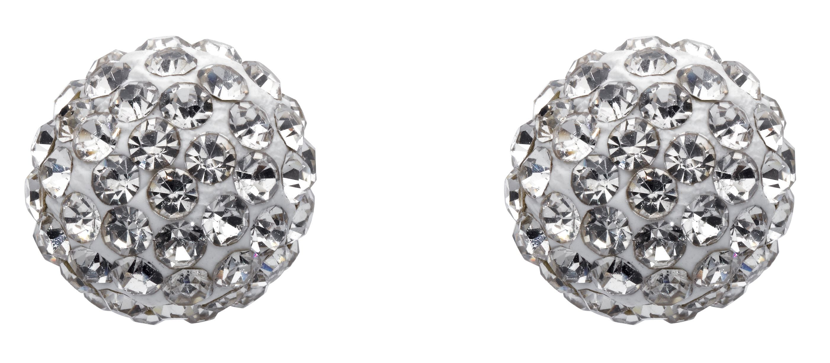 Dew Studs White Crystal 10mm
