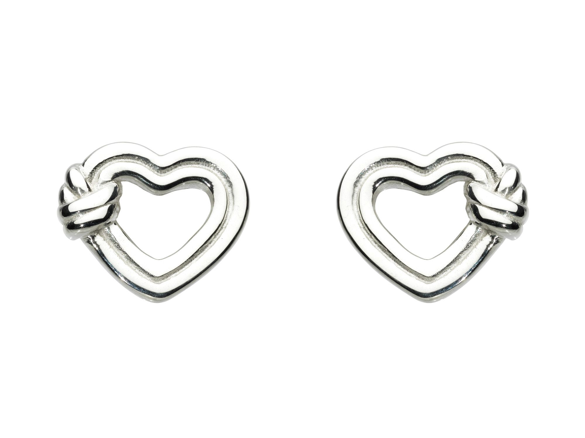 Clinch Heart Stud Earrings