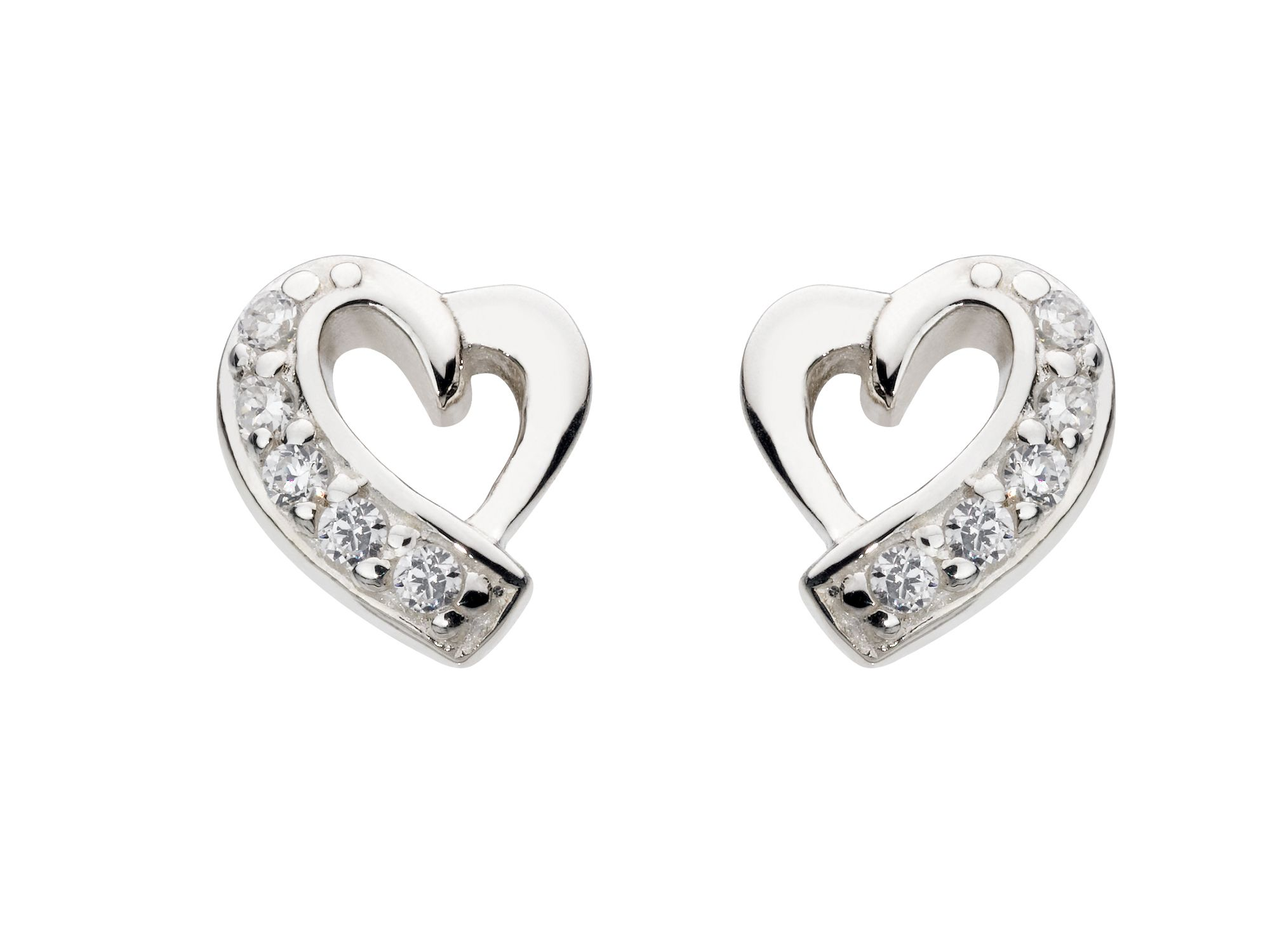 Small Heart Stud Earrings
