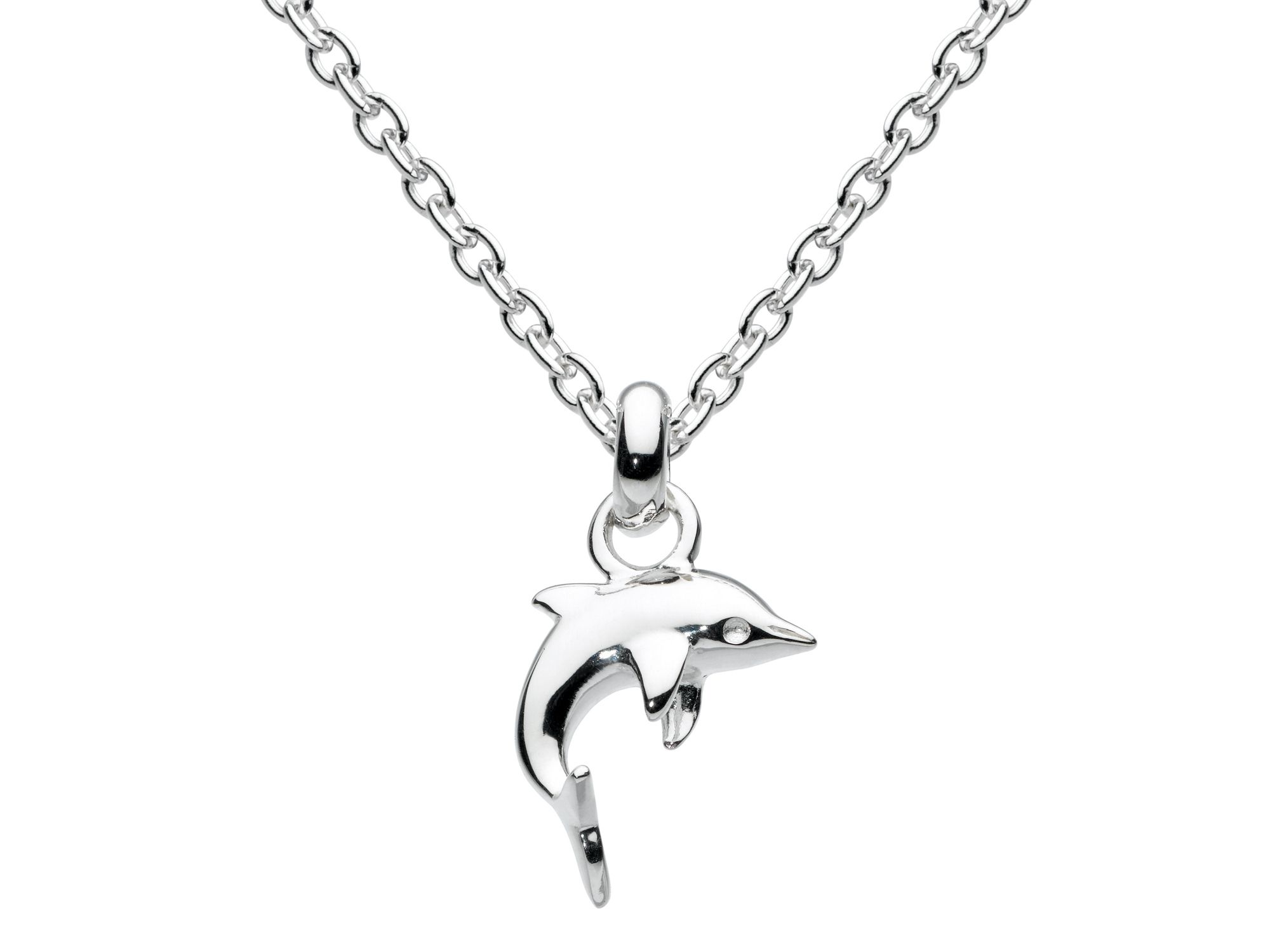 Sterling silver mini dolphin necklace