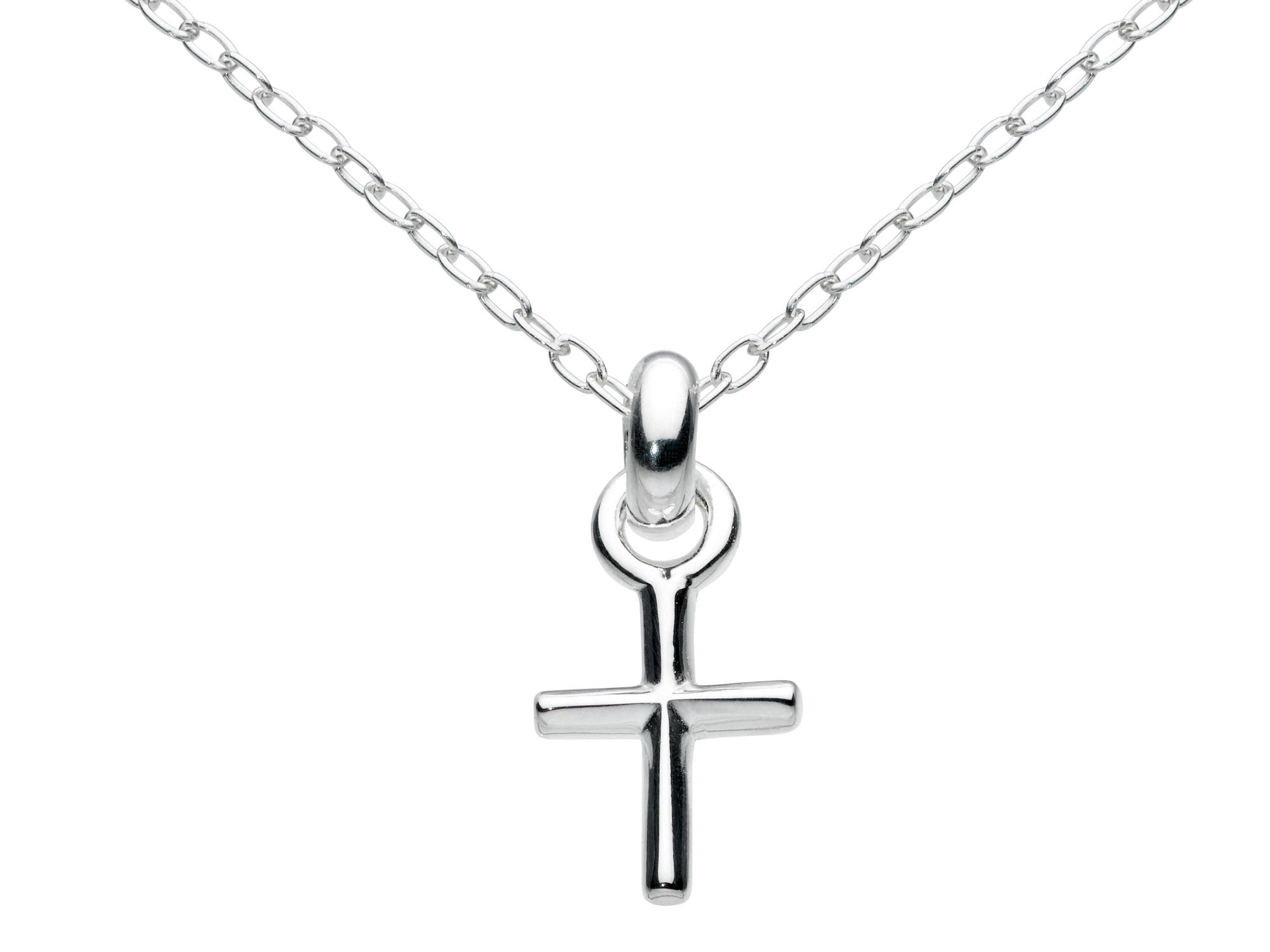 Sterling silver mini cross necklace