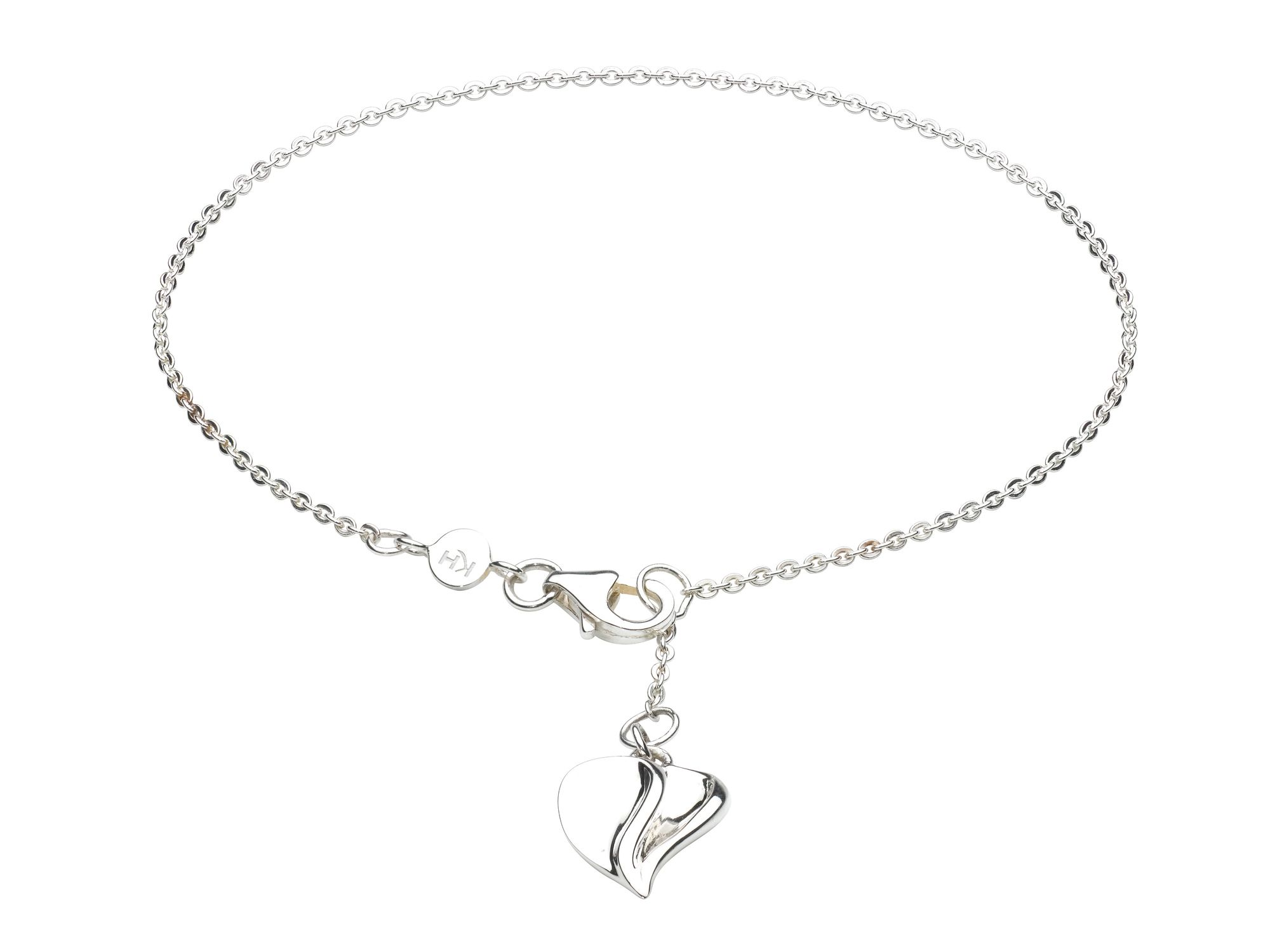 Sterling silver mayflower heart bracelet