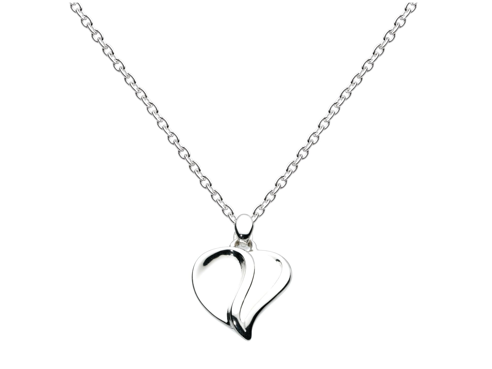 Sterling silver mayflower heart necklace
