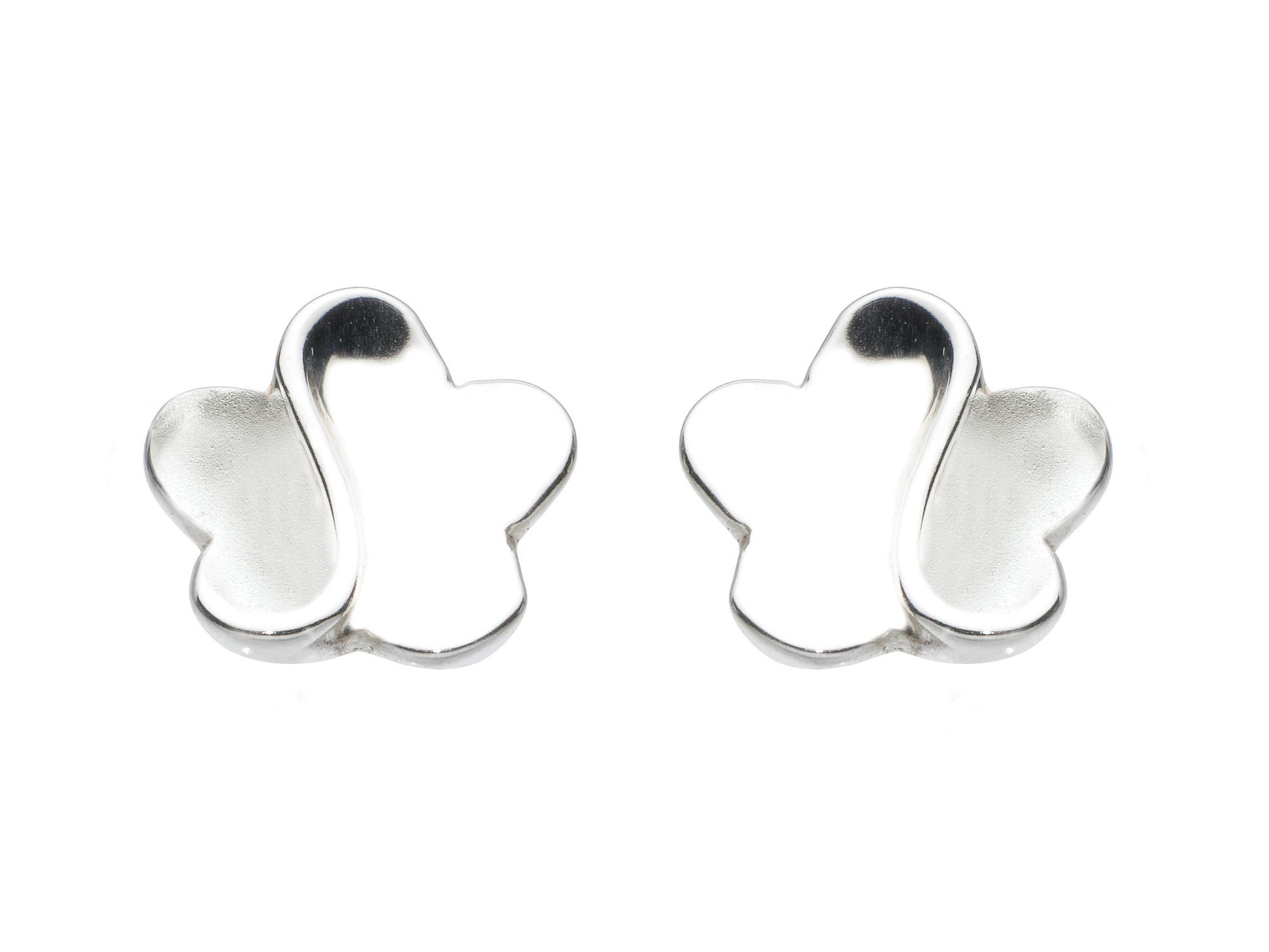 Sterling silver misted mayflower earrings