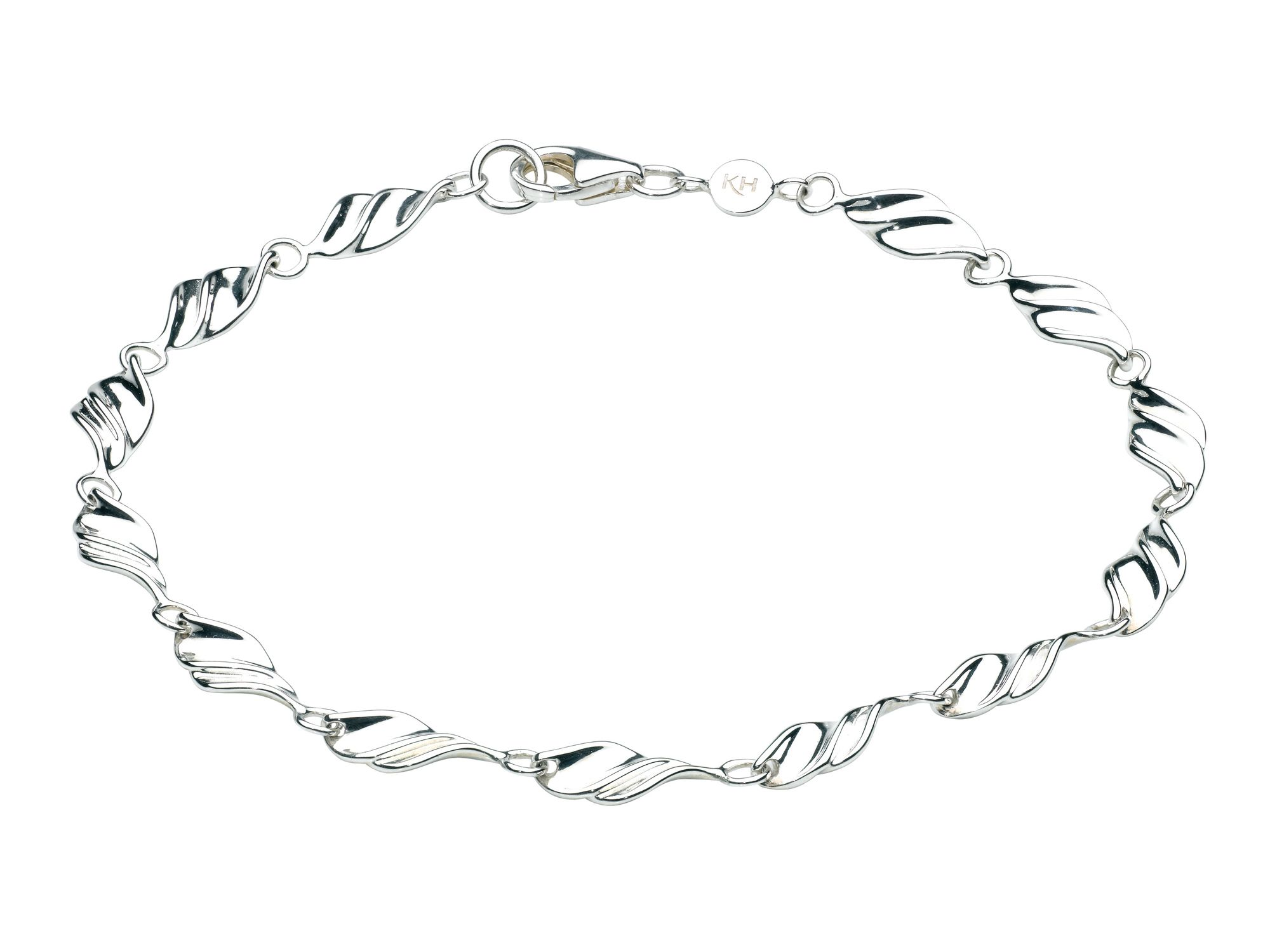 Sterling silver twisted scoop bracelet