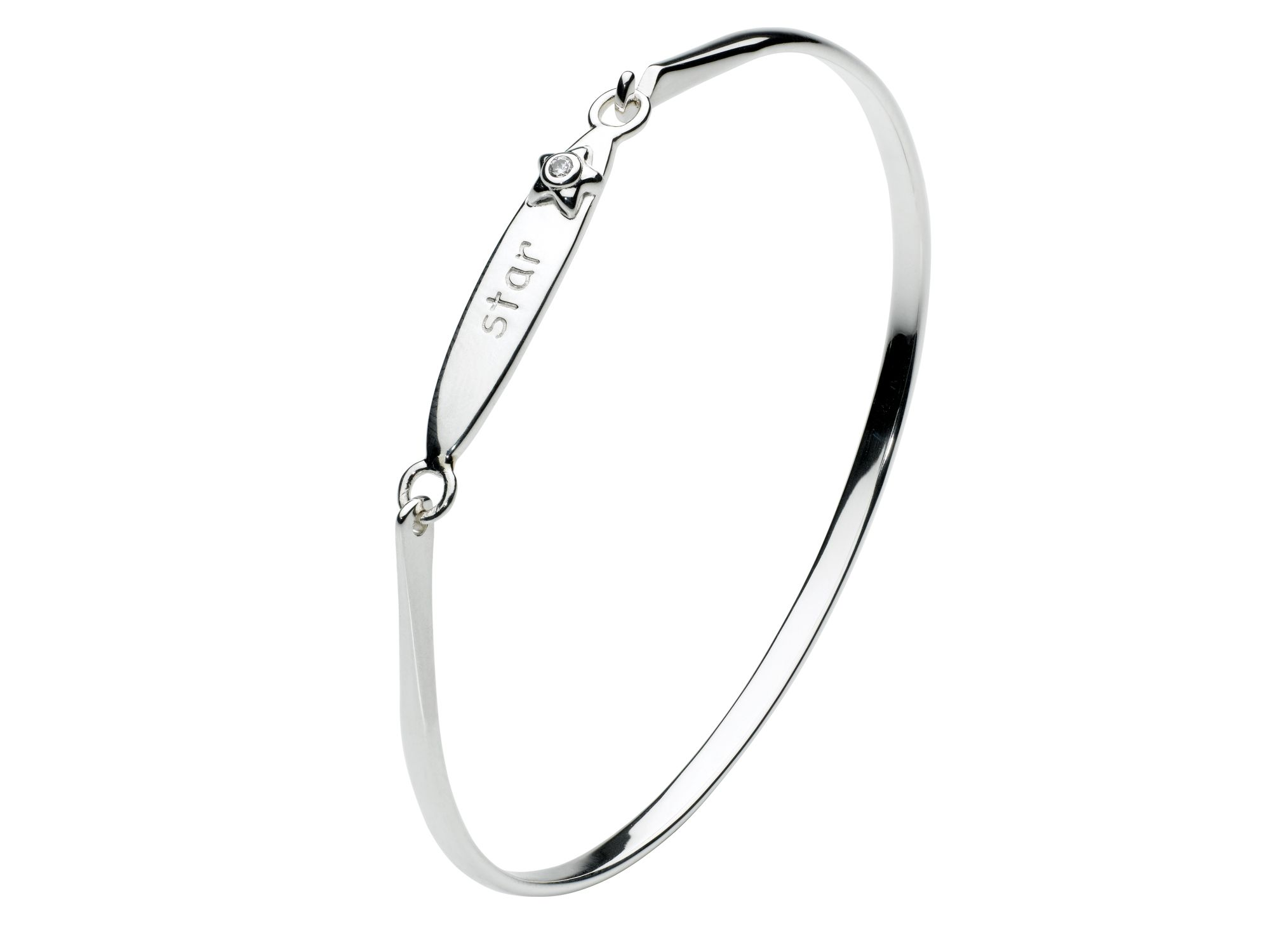 Kids inscribed star bangle