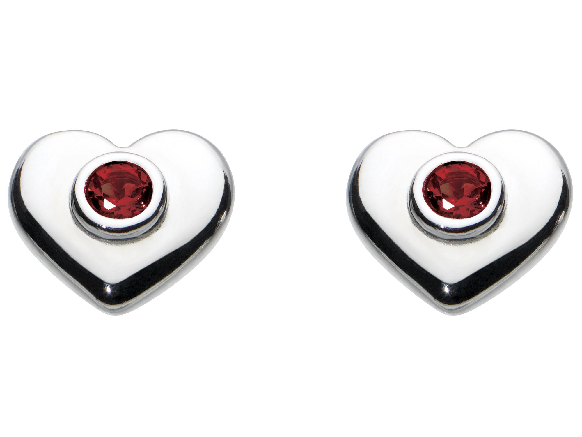 Kids july heart birthstone earrings