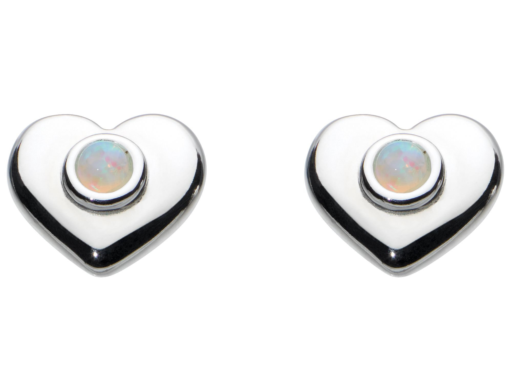 Kids october heart birthstone earrings