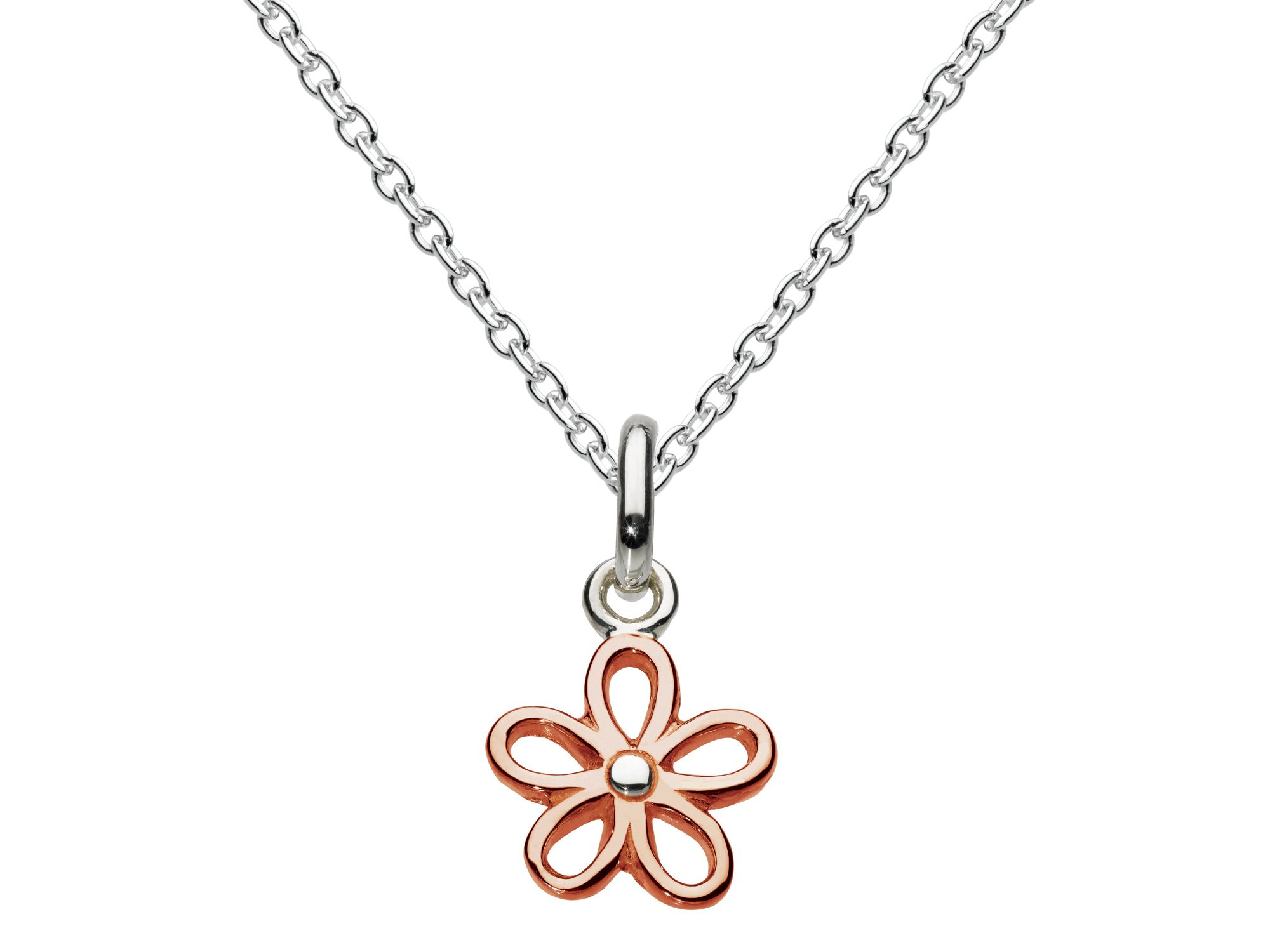 Rose gold plate pendant simple flower