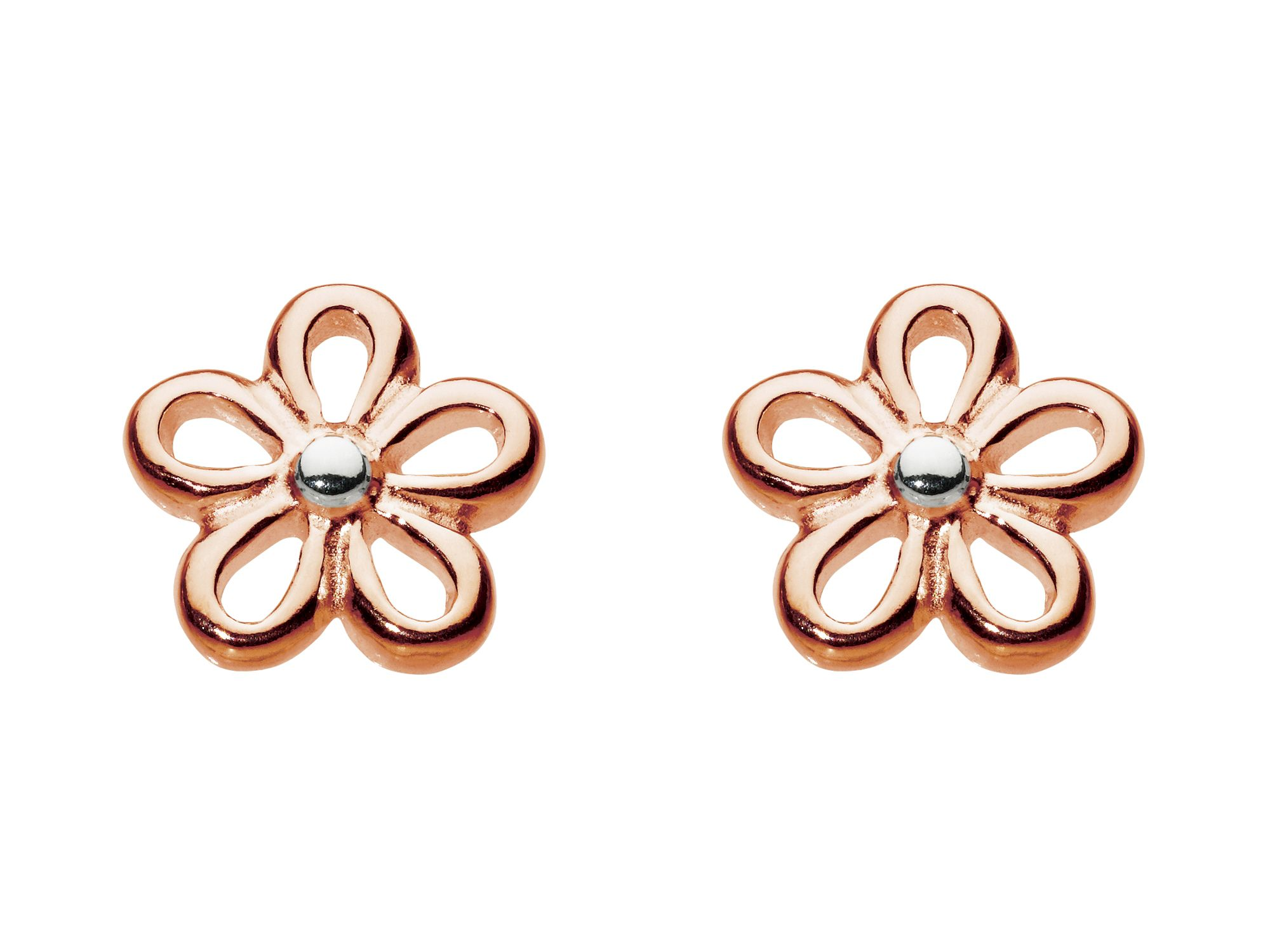 Rose gold plate simple flower