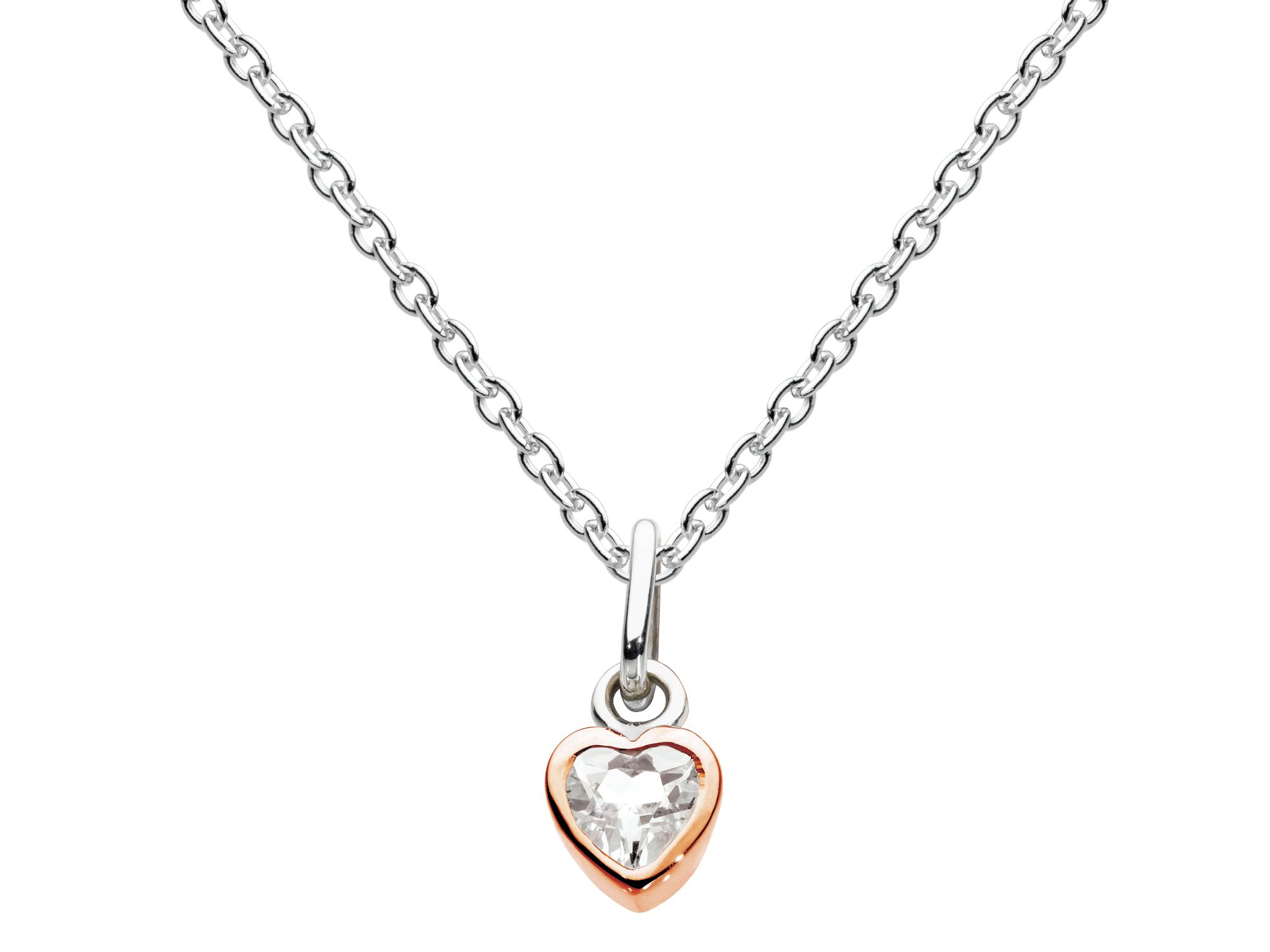 Rose gold plate small heart pendant
