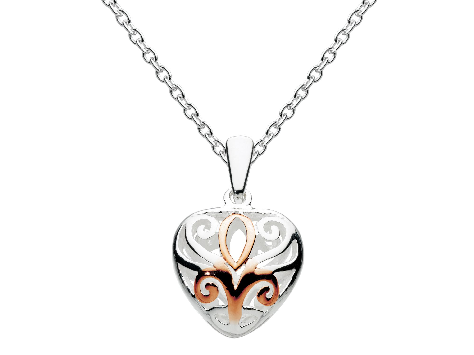 Rose gold plate heart pendant