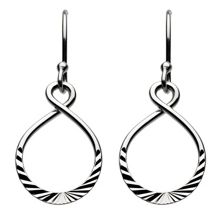 Open twist hoops