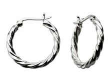 Sterling Silver Small Twisted Hoops