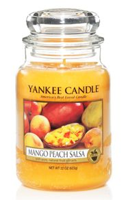 Yankee Candle Large mango peach salsa housewarmer candle