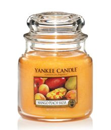 Yankee Candle Medium mango peach salsa housewarmer candle