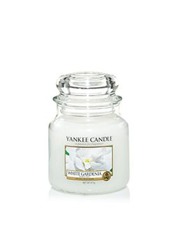 White gardenia medium jar candle