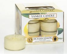 Yankee Candle Sicilian lemon  tea lights box of 12