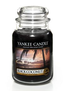 Yankee Candle Black coconut large jar candle
