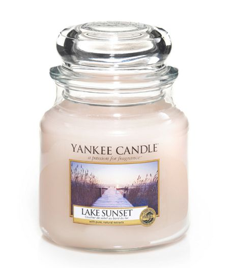 Yankee Candle Lake sunset medium jar candle
