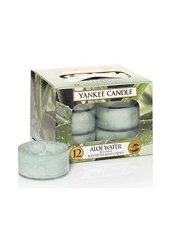 Classic tea lights aloe water candle