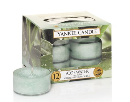 Yankee Candle Classic tea lights aloe water candle