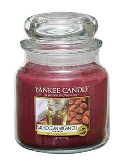 Classic medium jar moroccan argan oil candle