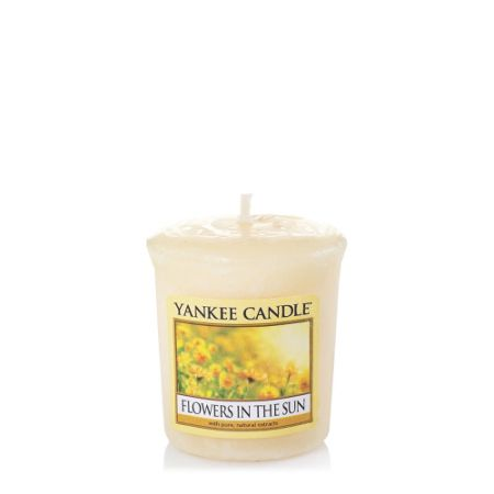 Yankee Candle Classic votive flowers in the sun