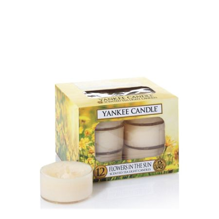 Yankee Candle Classic tea lights flowers in the sun