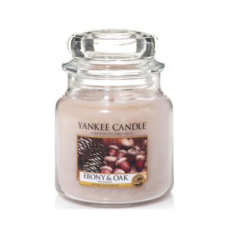 Yankee Candle Classic medium jar ebony & oak