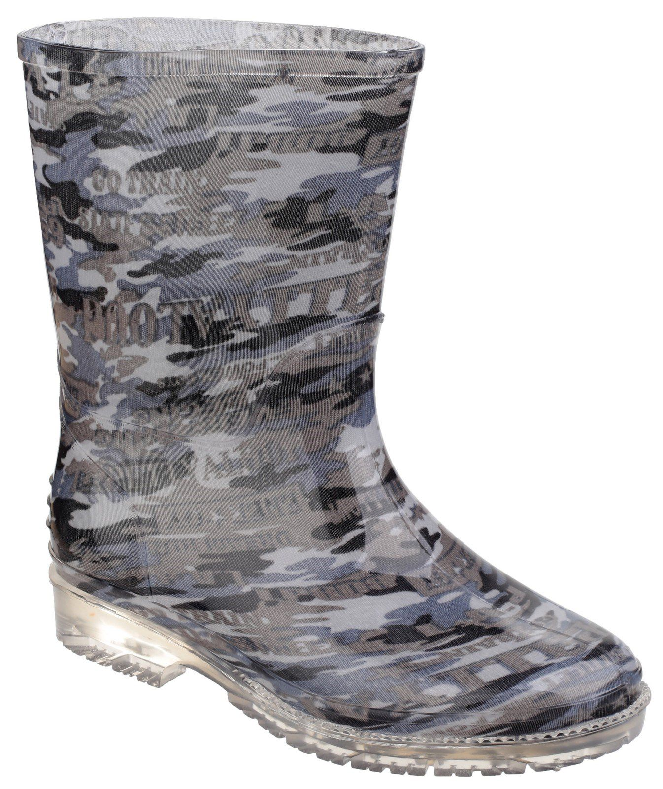 Cotswold Cotswold Kids Patterned PVC Wellies, Grey