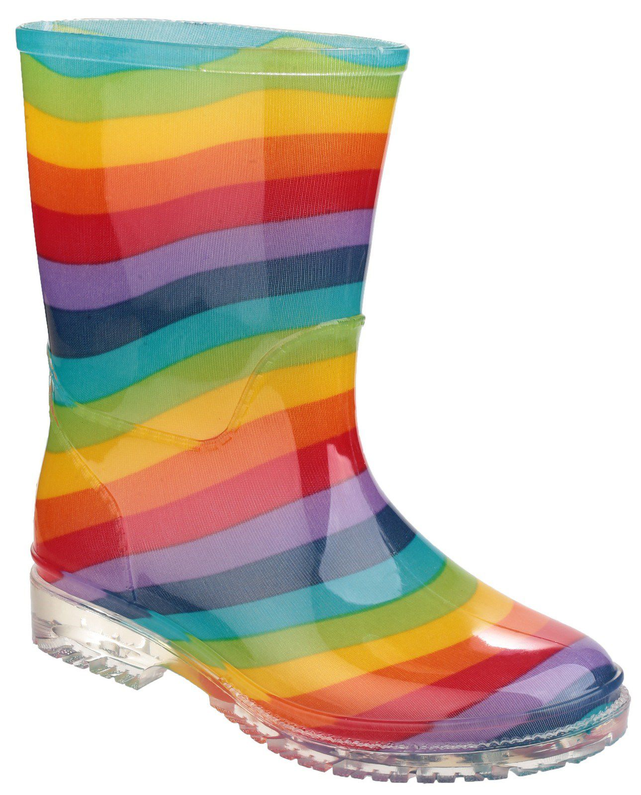 Cotswold Cotswold Kids Patterned PVC Wellies, Multi-Coloured