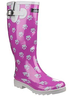 Dog paw wellington boots