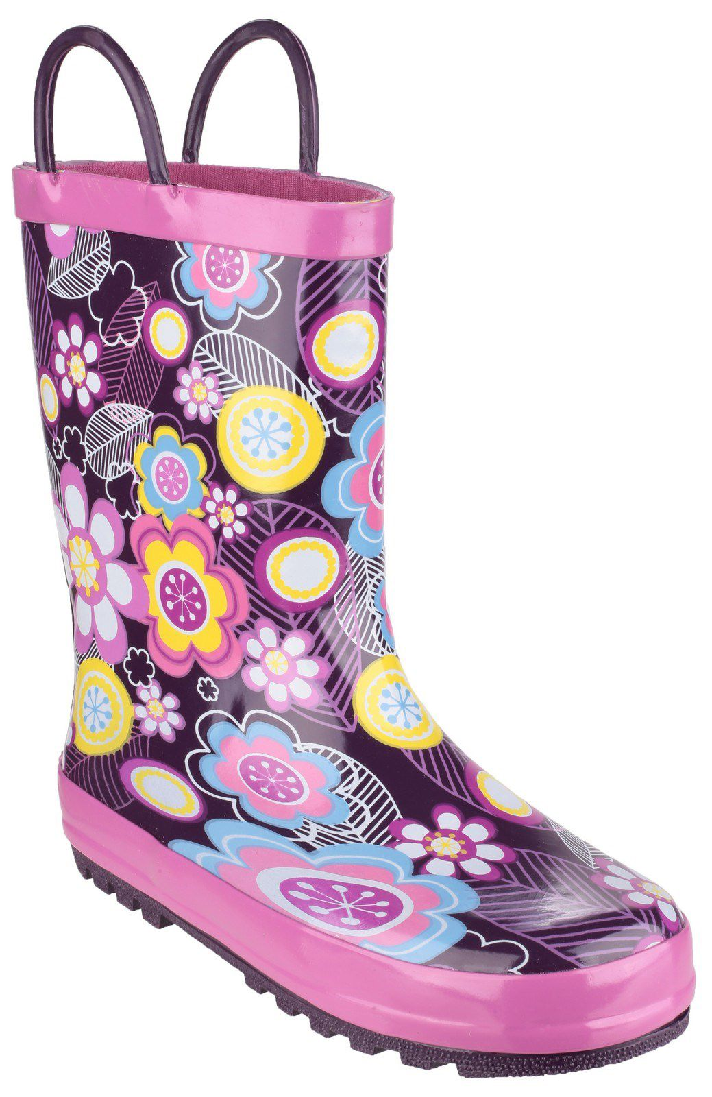 Cotswold Kids Puddle Boot Wellies, Purple